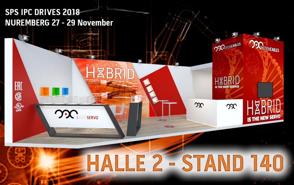 SPS NUREMBERG 2018: hybrid-servo-cables are on the spot